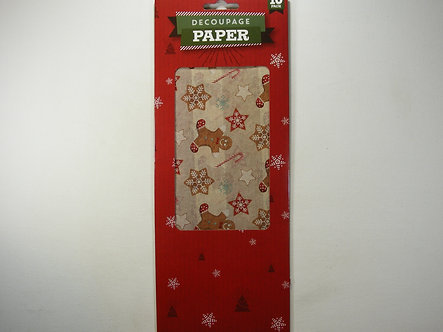 Christmas Decoupage Papers - Gingerbread 10pk