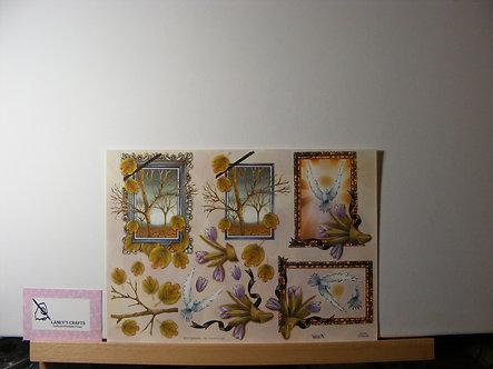 TBZ International - Floral Frames Decoupage Sheet.