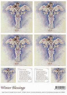 Angel Whispers - Winter Blessings Topper Sheet