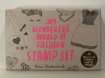 Nina Chakrabarti - My Wonderful World Of Fashion Stamp Set.