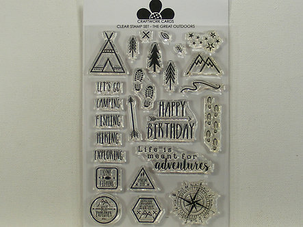 Craftwork Cards - The Great Outdoors Acrylic Stamp Set