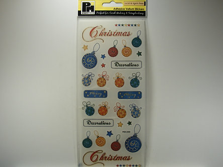 Papermania - Traditional Baubles Adhesive Vellum Stickers