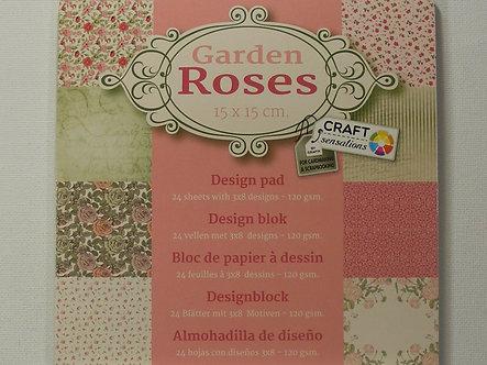 Craft Sensations - Garden Roses Paper Pad