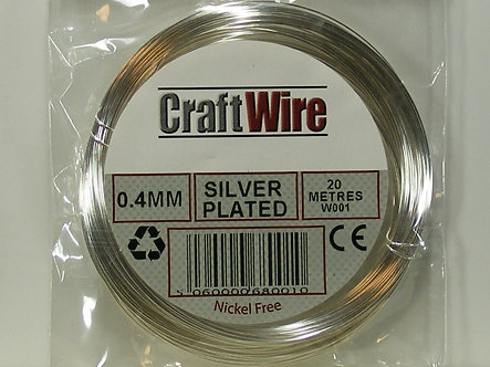 Salix - 0.4mm Silver Plated Wire (20 meters)