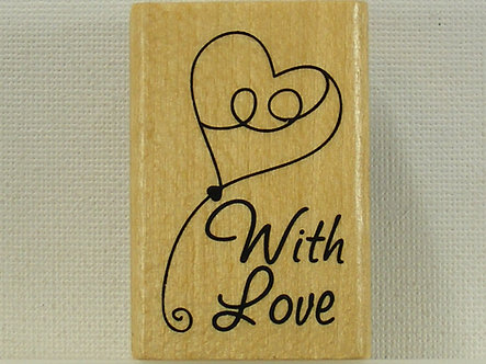 Anita's - With Love Mounted Rubber Stamp