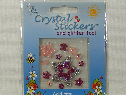 Mark Richards - Silver Star Crystal & Glitter Stickers