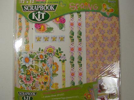 "Clover - 12"" x 12"" Scrapbook Kit - Spring."