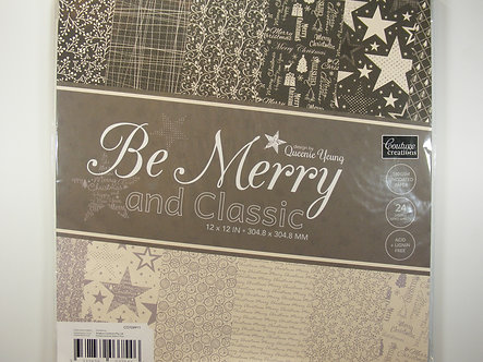 """Couture Creations - Be Merry And Classic 12"""" x 12"""" Paper Pad"""