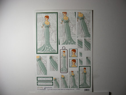 Hobby Habit Anastasia Decoupage Sheet.