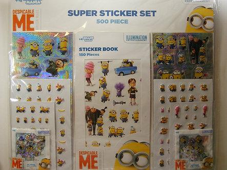 Despicable Me  Super Sticker Set.