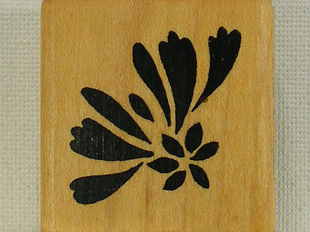 Commotion Rubber Stamps - Floral Fan