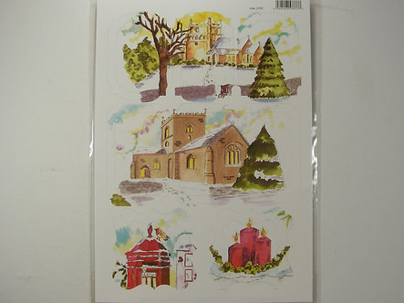 Christmas Craft Toppers - Snow Scenes