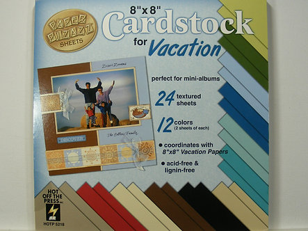 """Hot Off The Press - Vacation 8"""" x 8"""" Cardstock"""