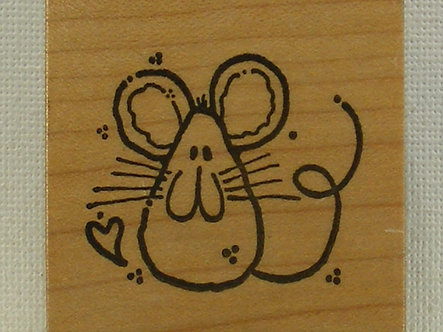 Whipper Snapper Designs - Cute Mouse Rubber Stamp