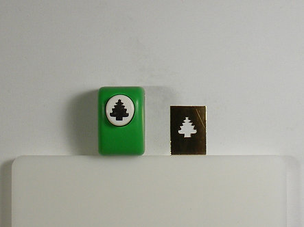Unbranded Hand Punch - 15mm Christmas Tree (Used).