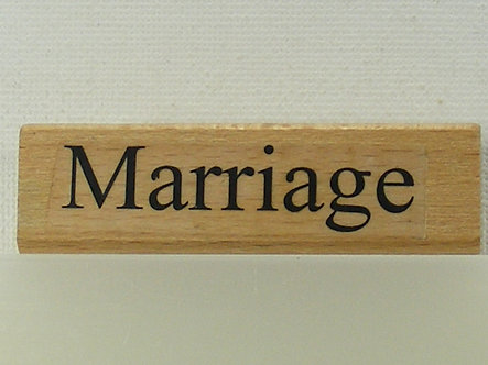 Debbi Moore - Marriage Wood Mounted Rubber Stamp