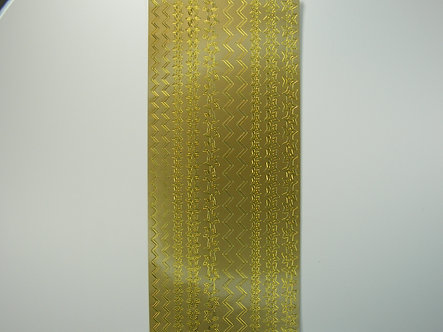 Craftstyle - Christmas Peel Off Borders (Gold)