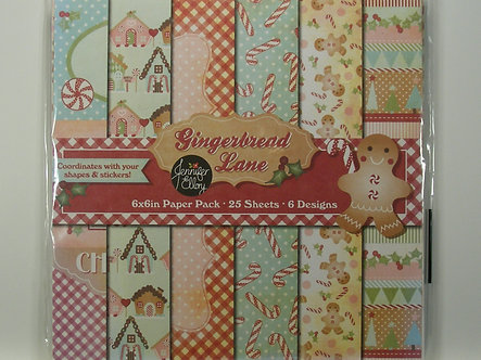 "Gingerbread Lane - 6"" x 6"" Christmas Paper Pack"