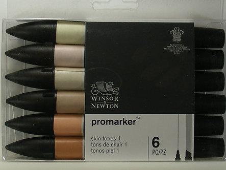 Winsor & Newton - Promarker Skin Tones 1 Markers