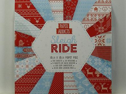 Paper Addicts - Sleigh Ride 10cm x 10cm Paper Pad