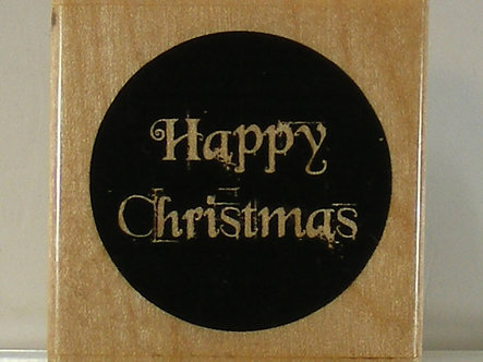 Papermania - Happy Christmas Rubber Stamp