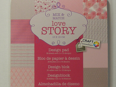 "Craft Sensations - Love Story 6"" x 6"" Paper Pad."