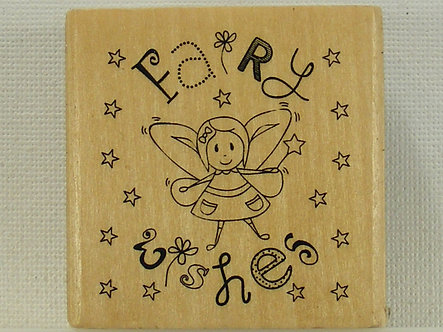Anita's - Fairy Wishes.Mounted Rubber Stamp