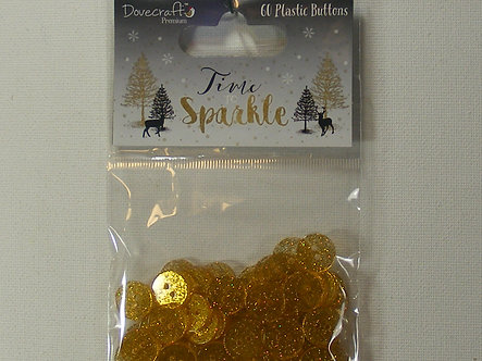 Dovecraft - Time to Sparkle Glitter Buttons