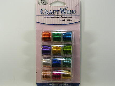 Beads Direct - 12 Spool Pack Craft Wire