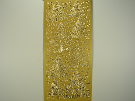 Christmas Peel Offs - Christmas Trees (Gold)