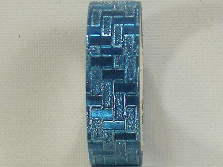 Craft Washi Tape - Blue Oblong Design.