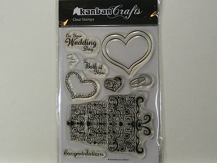Kanban - Wedding Celebrations Clear Stamps