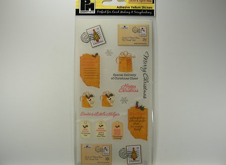Papermania - Traditional Xmas Lists Adhesive Vellum Stickers