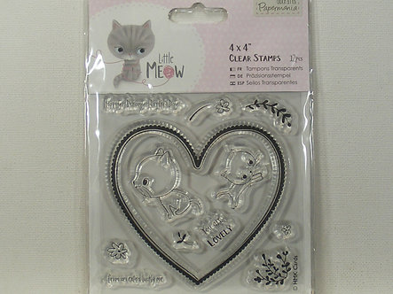 Docrafts - Little Meow - You Are Lovely Clear Stamps
