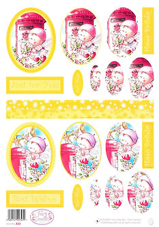Buzzcraft - Fairy Doodles Oval Stackers Decoupage