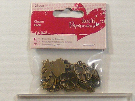 Docrafts - Charm Pack - Flowers & Butterflies.