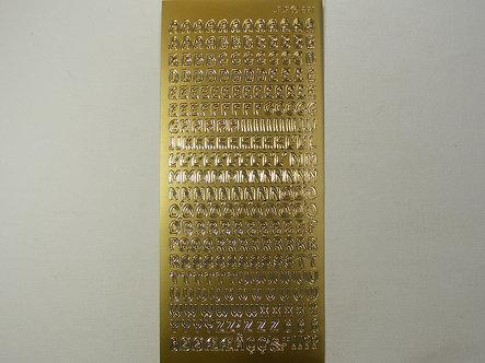 Craftstyle - Gold Upper Case Alphabet Peel Offs.
