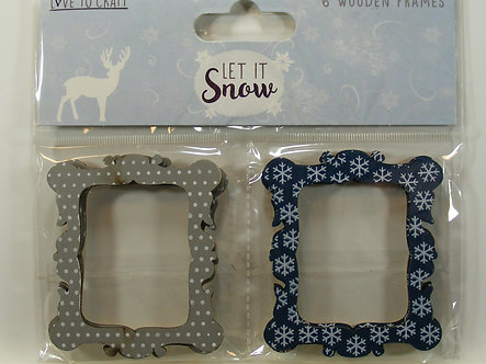 Love To Craft - Let It Snow Wooden Frames