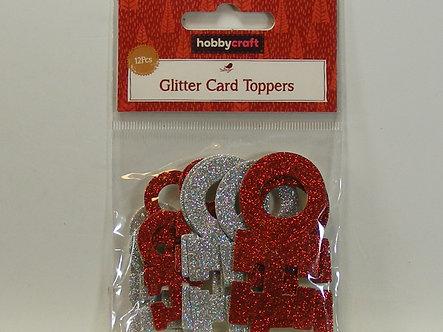 Hobbycraft - Glitter Card Toppers - HO