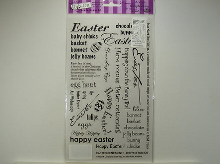 Royal Langnickel Rub On Transfers - Easter Sentiments