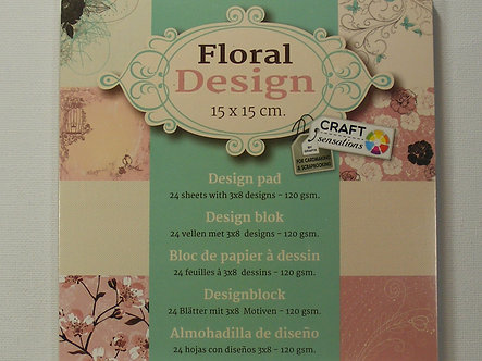 Craft Sensations - Floral Design Paper Pad