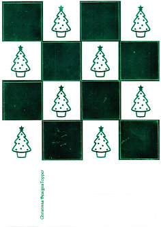 Christmas Designa Topper - Green Metallic Foiled Christmas Tree Topper Sheet