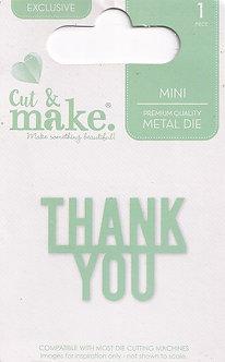 Cut & Make - Mini Sentiment Dies - Thank You