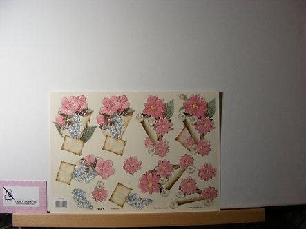 TBZ International - Floral Decoupage Sheet.