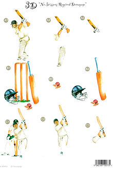 Craft UK - 3D Decoupage Cricket