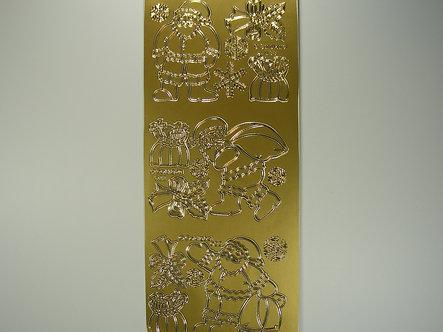 Christmas Peel Offs - Fun Santa (Gold)