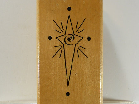 Anita's - Christmas Star Wood Mounted Rubber Stamp