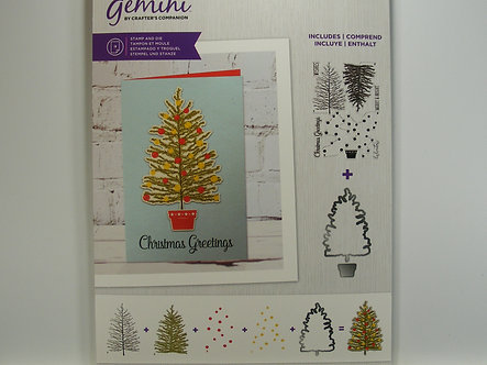 Crafters Companion - Gemini - Decorate The Tree Stamp & Die Set