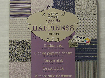 """Craft Sensations - Joy & Happiness 6"""" x 6"""" Paper Pad."""