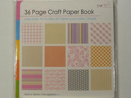 "Craft Scissors - 36 Page Craft 6"" x 6"" Paper Book (Pinks)"